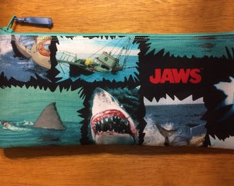 Jaws / Shark Handmade Pencil Case and Coin Purse