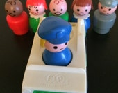 Fisher Price Little People Family Charatcers  Vintage Toys  Retro Toys  Car and People.