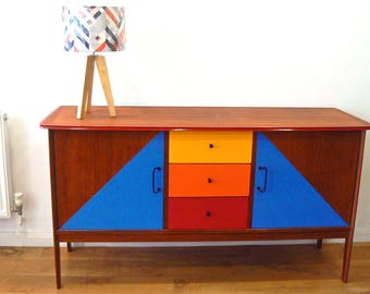 SALE! Tall Retro Credenza Sideboard from the Sixties