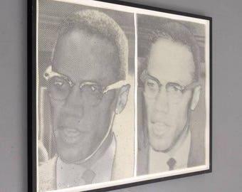 "Joe Tilson (British/American, b. 1928) ""Malcolm X"" Screen-Prints"