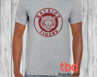 Bayside Tiger Graphic Tee Unisex Softstyle Semi-Fitted (tee saved by the bell inspired for mens womens)