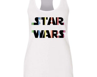 Star Wars flowy tank / Lightsaber tank / Star Wars Shirt / Star Wars / Princess Leia / Disney shirt
