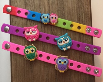 Cute Owls Charm Bracelets PARTY FAVORS