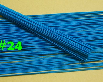 """400 Wire Stems--Gauge#24-- (Length 12"""" X 0.8 mm) Floral Wire Flower Stem Artificial, Artificial Stems, Floral Stem, Turquoise Wire Stems."""