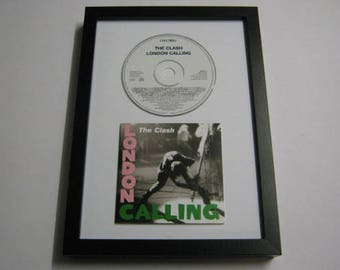"The Clash ""London Calling"" Framed Wall Plaque CD Wedding Anniversary Christmas Birthday Recycled Upcycled Repurposed Green Gift Present"