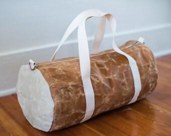 Waxed Canvas Duffle Bag / Vintage Weekender