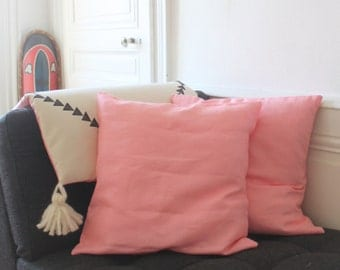 Coussin Rosa SOLDES  - soldé sales pillow cushion rose pink lin linen décoration home living