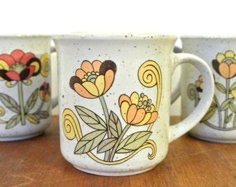 Vintage tasses à café, set de 4