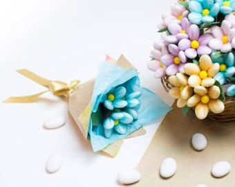 Bouquet chocolat fait main belle avec personnalisé Goil papier carte Message.
