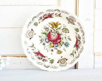 "Vintage Myott ""Bouquet"" Fruit Bowl 