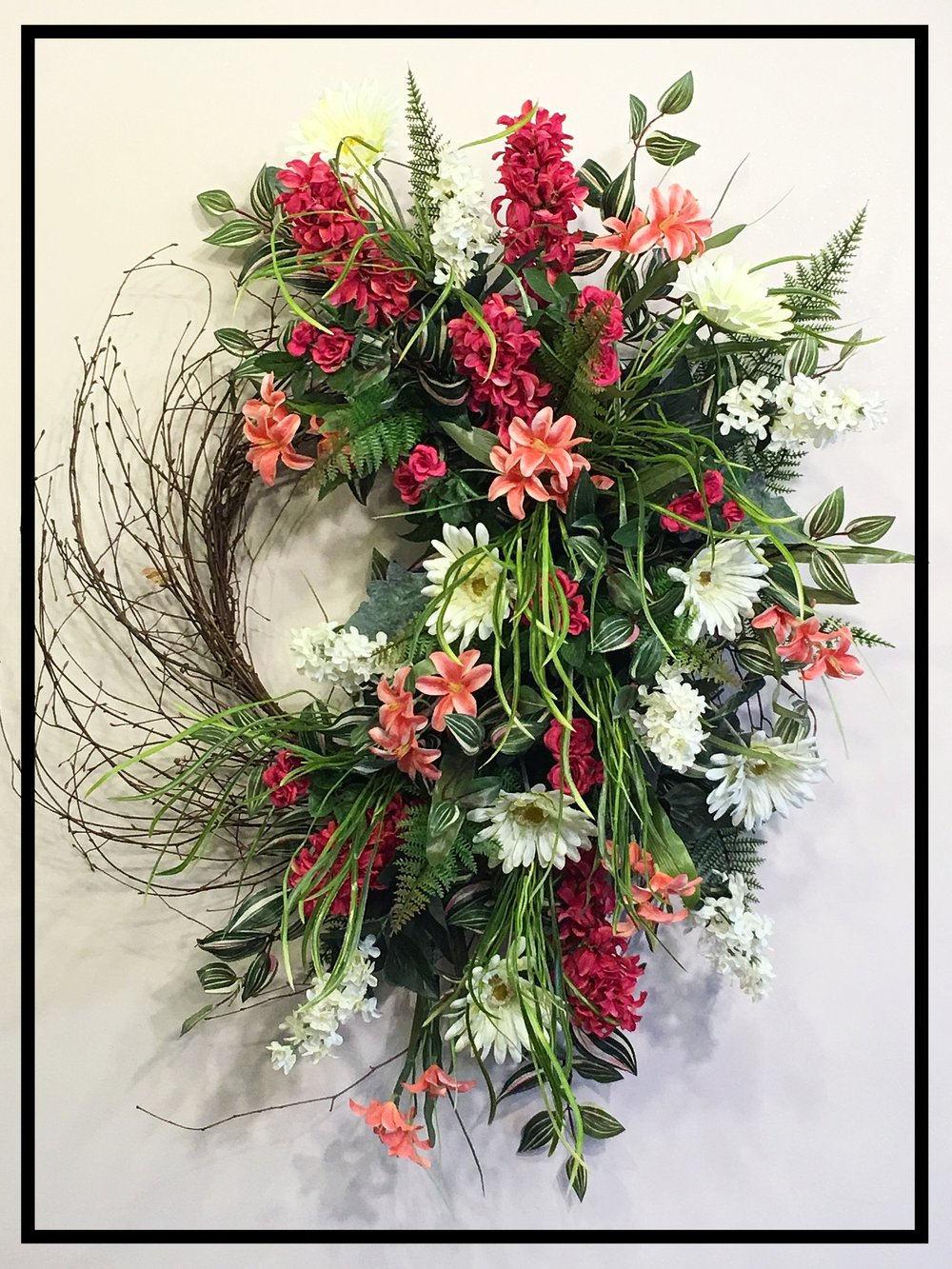 spring wreath front door spring wreaths for front door. Black Bedroom Furniture Sets. Home Design Ideas