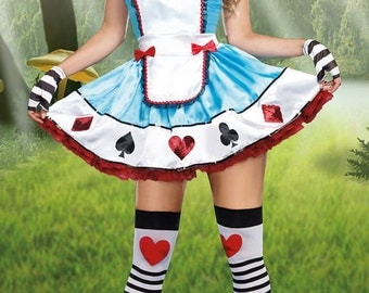 Adult Alice in Wonderland Fancy Dress Ladies fairy tale story book costume outfit size 6 8 10 12 14 16