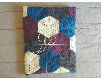 Hexagon Baby Blankets - Made To order - 27 Pure Wool Colours Available