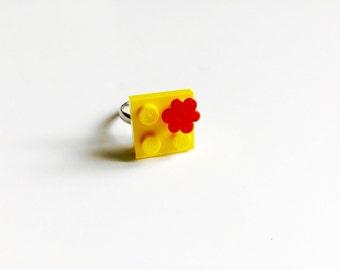 Lego - brick flower ring