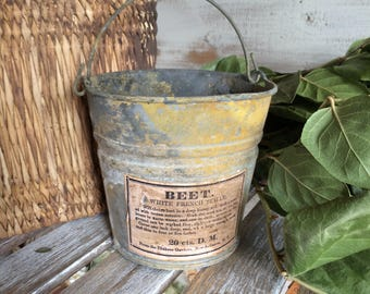 Galvanized Buckets Etsy