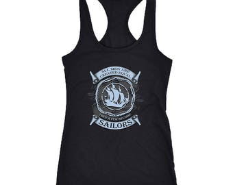 Sailor Racerback Tank Top T-Shirt. Funny Sailor Tank. Cool Shirt for Sailor