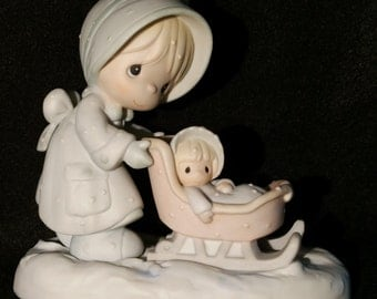 "Precious Moments ""Janurary"" Porcelain Figure"