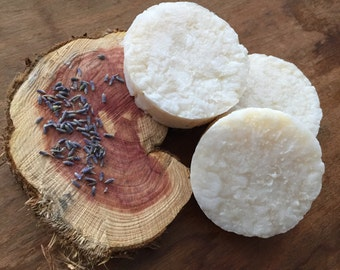 Lavender and Cedar Wet Shave Soap, Men's Shave Soap, Shaving Puck, Masculine Scent, Rich Lather