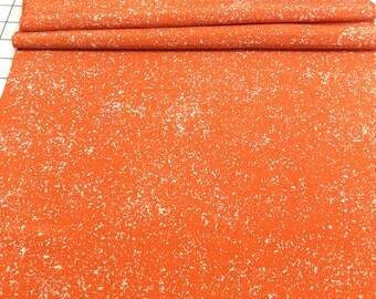 Vintage Kimono Silk Fabric, Japanese Fabric, Chirimen, Orange, Tatakizome