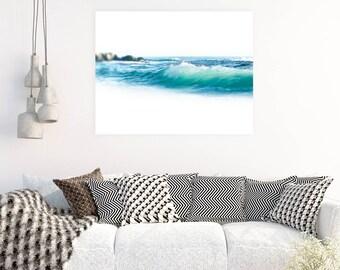 Beach Photography, Nature Landscape, Wave Photography, Beach Scene, Victoria Beach, Laguna Beach, Aluminum Wall Art