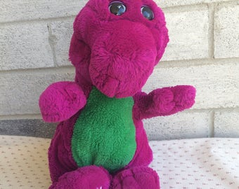 Vintage 90s BArney Plush, Barney Doll,  Barney plush