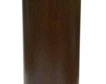 "4"" Walnut Cylinder/Cylindrical Style Sofa/Couch/Chair Wood Legs [5/16"" Bolt] - Set of 4"