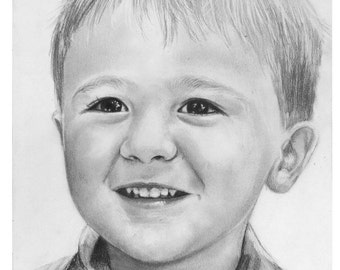 Custom pencil sketch/drawing of child