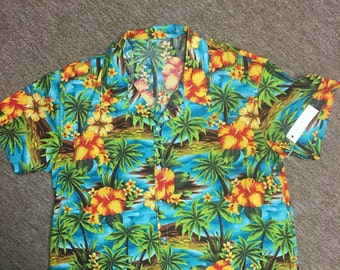Men's XXL, XXXL Hawaiian Shirt
