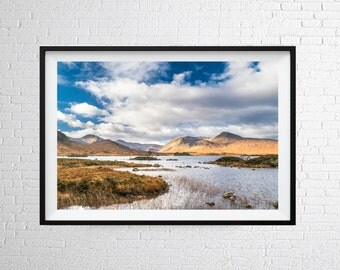 Rannoch Moor Wall Art Print / Home Decor / Travel Poster / Scotland Print / Photographic Print / Prints of Scotland
