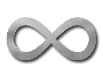 Infinity Symbol Metal Wall Art, Wall Decor, Modern Metal Wall Art, Large Metal Wall Art, Metal Wall Sculpture, Home Decor, Silver Wall Art