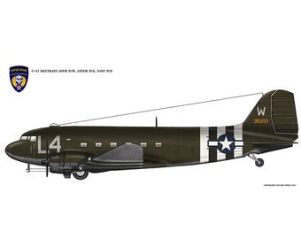 Digital Aviation Print - C-47 Skytrain - Band of Brothers