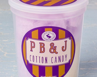 Peanut Butter and Jelly  Cotton Candy