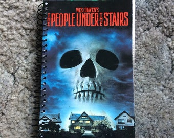 Handmade People under the stairs VHS spiral notebook