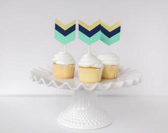 tribal cupcake topper, arrow cupcake topper