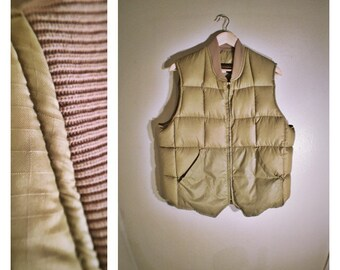 70s Eddie Bauer Expedition Outfitter khaki puffy ski vest