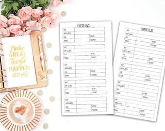 coupon code tracker printable planner insert - Filofax personal / Kikki K Medium / print at home / planner refill