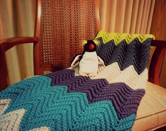HAPPY PENGUIN Baby Blanket - Ready To Ship