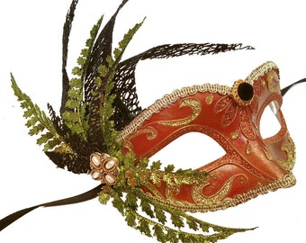 Irish Fern Masquerade Mask U972