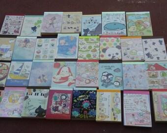 Kawaii Memo Sheets and Sticker Flakes Grab Bag - Stationery - Loose Mini Memo Papers - Gift - Cute - Stationery Grab Bag