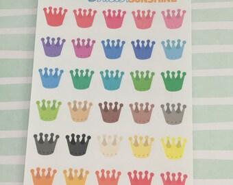 Mini Crown Stickers