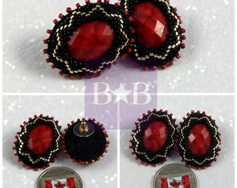 Red Jewel Earrings