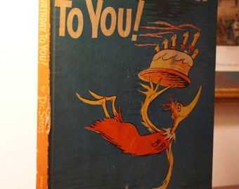Happy Birthday To You/Dr. Seuss/1959/ Children's Book/ Great Birthday Gift