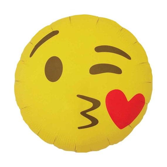 Emoji Kissy Heart Balloon. 18. Winky Kissing Emoji