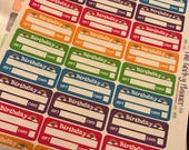 30 rainbow Birthday , gift card party tracker planner stickers great for vertical planners  happy planner recollections