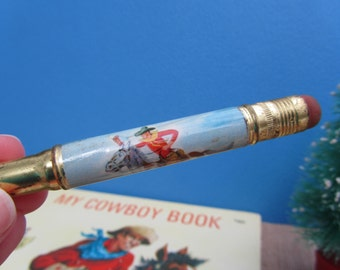 Cowboy Bullet Pencil Western Art Vintage Cheyenne Wyoming Souvenir Collectible Retro Decor Gift
