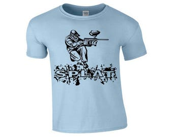 splat paint balling sport t shirt