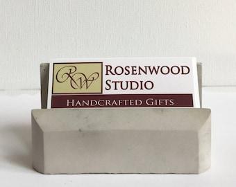 Concrete Business Card Holder