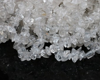 Crystal Chip Beads - Clear Rock Quartz - 15 inch Strand SKU-G206