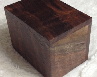 Handmade Black Walnut Box