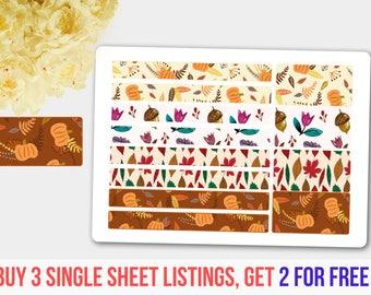 Washi Stickers, Washi Tape Syle Sticker Set, Washi Tape Stickers, Washi Tape Stickers in Pastel Colors, Planner Sticker,  Erin Condren
